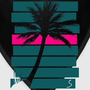 Palmtree over stripes - Bandana