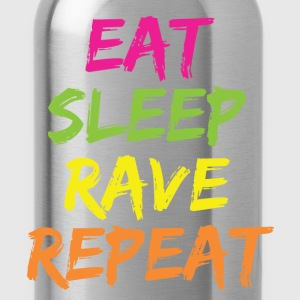 EAT SLEEP RAVE REPEAT Women's T-Shirts - Water Bottle