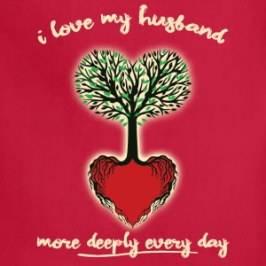 Husband Love More Each Day - Adjustable Apron