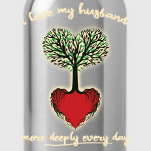 Husband Love More Each Day - Water Bottle