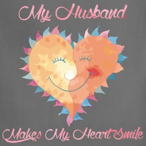 Husband Makes My Heart Smile - Adjustable Apron