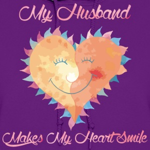 Husband Makes My Heart Smile - Women's Hoodie