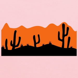 desert evening night sunset sunrise kakten cactus  T-Shirts - Kids' Hoodie