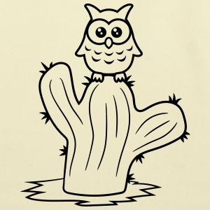 owl bird owl small comic cartoon sweet cute little T-Shirts - Eco-Friendly Cotton Tote