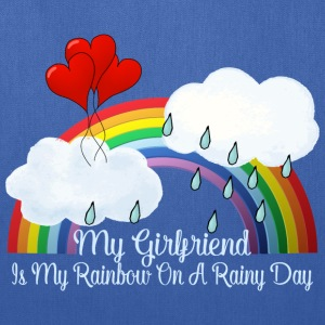 Girlfriend Is My Rainbow On Rainy Day - Tote Bag