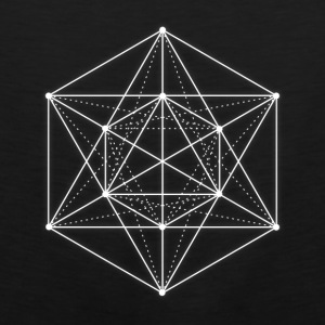 Sacred geometry / Minimal Hipster Line Art Bags & backpacks - Men's Premium Tank