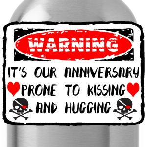 Anniversary Prone To Kissing And Hugging - Water Bottle