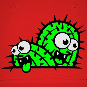 comic cartoon face funny ground little cactus 2 ka T-Shirts - Baseball Cap