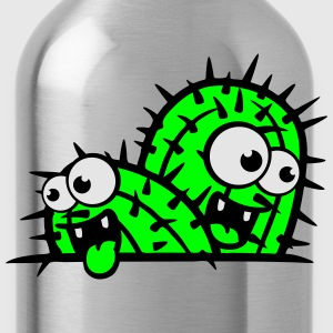 comic cartoon face funny ground little cactus 2 ka T-Shirts - Water Bottle