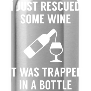 Rescued Some Wine - Water Bottle