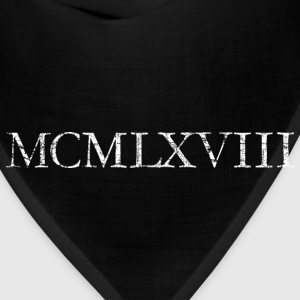 MCMLXVIII 1968 Roman Birthday Year T-Shirts - Bandana