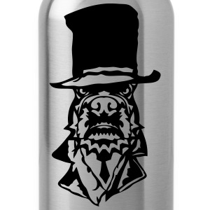bulldog hat suit necktie 2 T-Shirts - Water Bottle