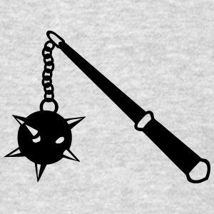 medieval weapon scourge ball spades 1 Long Sleeve Shirts - Men's T-Shirt