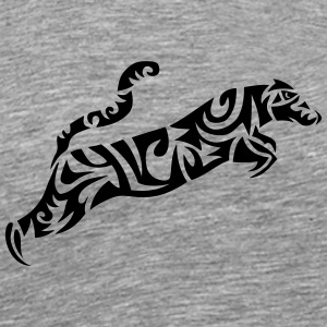 tribal leopards wild animal jumps in 110 Sportswear - Men's Premium T-Shirt