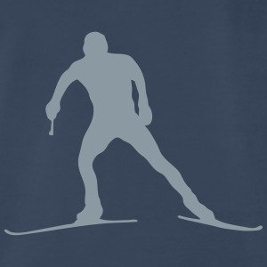 nordic combined ski background silhouett Tanks - Men's Premium T-Shirt