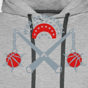 basketball weapon medieval scourge logo T-Shirts - Men's Premium Hoodie