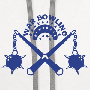 bowling scourge medieval weapon logo Long Sleeve Shirts - Contrast Hoodie