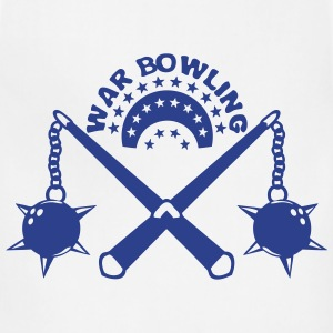 bowling scourge medieval weapon logo Long Sleeve Shirts - Adjustable Apron