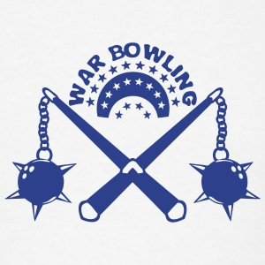 bowling scourge medieval weapon logo Long Sleeve Shirts - Men's T-Shirt