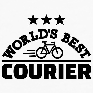 World's best bike courier Mugs & Drinkware - Men's Premium Long Sleeve T-Shirt