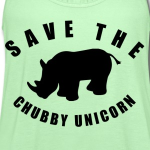 Save The Chubby Unicorn T-Shirts - Women's Flowy Tank Top by Bella