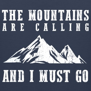 The Mountains Are Calling T-Shirts - Men's Premium Tank