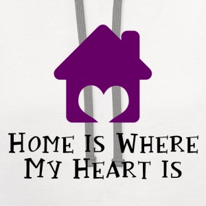 Home Is Where My Heart Is Women's T-Shirts - Contrast Hoodie