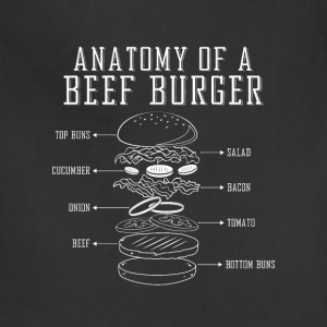 anatomy of a beef burger - Adjustable Apron