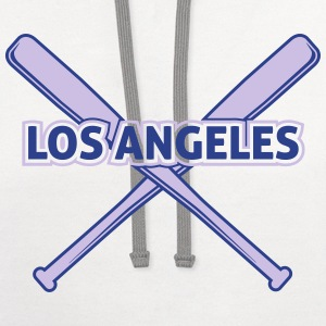 Los Angeles Baseball T-Shirts - Contrast Hoodie