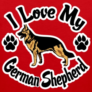 I Love My German Shepherd Kids' Shirts - Men's Premium Tank