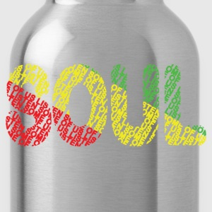 Soul Red Gold Green - Water Bottle