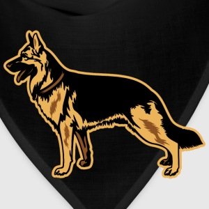 Dogs German Shepherd Women's T-Shirts - Bandana