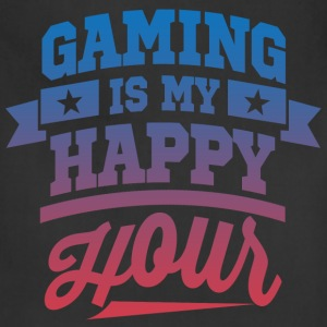 Gaming Is My Happy Hour T-Shirts - Adjustable Apron