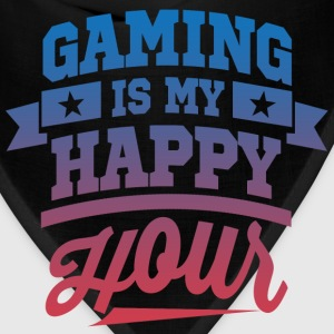 Gaming Is My Happy Hour T-Shirts - Bandana