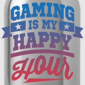 Gaming Is My Happy Hour T-Shirts - Water Bottle