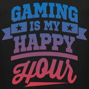 Gaming Is My Happy Hour T-Shirts - Men's Premium Tank