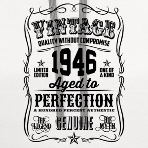 Vintage 1946 Aged to Perfection 70th Birthday gif - Contrast Hoodie