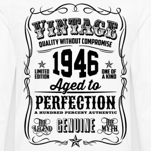Vintage 1946 Aged to Perfection 70th Birthday gif - Men's Premium Long Sleeve T-Shirt