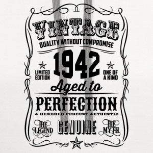 Vintage 1942 Aged to Perfection 74th Birthday gift - Contrast Hoodie