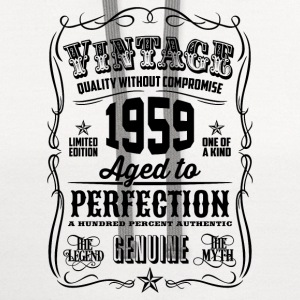 Vintage 1959 Aged to Perfection 57th Birthday  - Contrast Hoodie