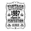 Vintage 1987 Aged to Perfection 29th Birthday - Men's Premium T-Shirt