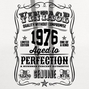 Vintage 1976 Aged to Perfection 40th Birthday  - Contrast Hoodie