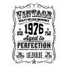 Vintage 1976 Aged to Perfection 40th Birthday  - Men's Premium T-Shirt