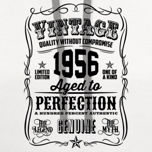 Vintage 1956 Aged to Perfection 60th Birthday - Contrast Hoodie