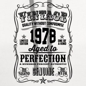 Vintage 1978 Aged to Perfection 38th Birthday gif - Contrast Hoodie