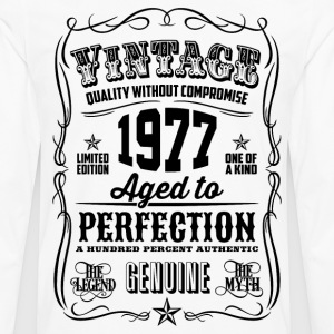 Vintage 1977 Aged to Perfection 39th Birthday  - Men's Premium Long Sleeve T-Shirt