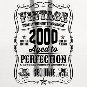 Vintage 2000 Aged to Perfection 16 Birthday gift - Contrast Hoodie