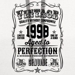 Vintage 1998 Aged to Perfection 18 Birthday gift - Contrast Hoodie