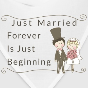 Just Married Forever Is Just Beginning - Bandana