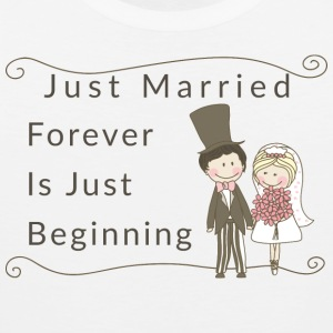 Just Married Forever Is Just Beginning - Men's Premium Tank